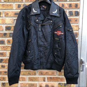 Harley Davidson Black Bomber Jacket Men's M